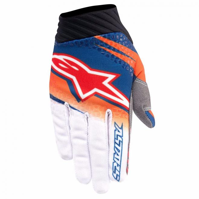 Alpinestar Motorcycle Gloves >> ALPINESTAR 2016 TECHSTAR VENOM GLOVE ORANGE WHITE NAVY ...