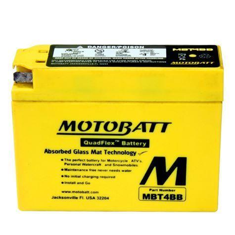 Motobatt AGM battery Yamaha TTR50 2005-2015 [MBT4B-B] - $39 95 : AMX