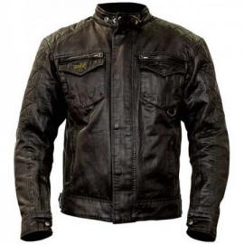 RST ISLE OF MAN SHORT WAX COTTON JACKET BLACK