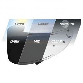 SHOEI NXR TRANSITIONS PHOTOCHROMATIC SELF-TINTING VISOR CWR-1