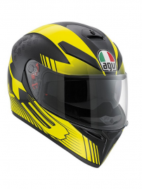 AGV K-3 SV GLIMPSE BLACK METAL/YELLOW