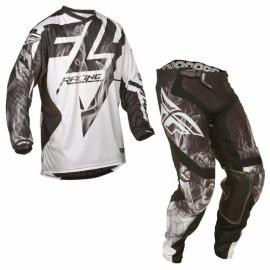 FLY LITE JERSEY AND PANTS COMBO WHITE BLACK