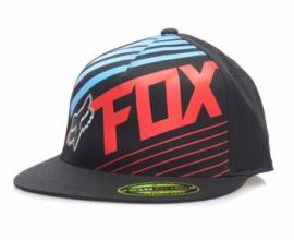 FOX SOLVENT FLEXFIT CAP BLACK RED BLUE