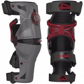 MOBIUS X8 KNEE BRACES GREY RED