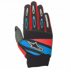 ALPINESTAR 2016 TECHSTAR FACTORY GLOVE BLACK RED BLUE