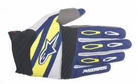 ALPINESTAR 2016 TECHSTAR FACTORY GLOVE NAVY WHITE YELLOW