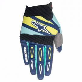 ALPINESTAR 2016 TECHSTAR FACTORY GLOVE NAVY TURQUOISE LIME