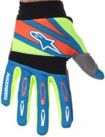 ALPINESTAR 2016 TECHSTAR FACTORY GLOVE BLUE FLURO YELLOW RED