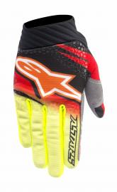 ALPINESTAR 2016 TECHSTAR VENOM GLOVE RED BLACK FLURO YELLOW