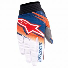 ALPINESTAR 2016 TECHSTAR VENOM GLOVE ORANGE WHITE NAVY