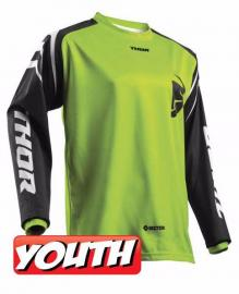 THOR YOUTH SECTOR ZONE JERSEY LIME