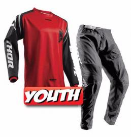 THOR 2018 YOUTH SECTOR ZONE JERSEY & PANTS RED
