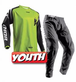 THOR 2018 YOUTH SECTOR ZONE JERSEY & PANTS LIME