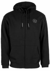 UNIT HOODY ZIP BLACK
