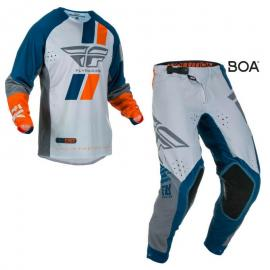 FLY 2019 EVOLUTION JERSEY AND PANT COMBO GREY ORG