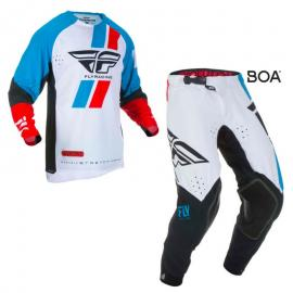 FLY 2019 EVOLUTION JERSEY AND PANT COMBO RED BLUE