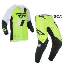 FLY 2019 EVOLUTION JERSEY AND PANT COMBO BLK HIVIS