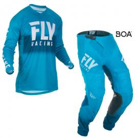 FLY 2019 LITE HYDROGEN JERSEY AND PANT COMBO BLUE