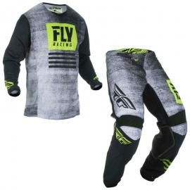 FLY 2019 KINETIC JERSEY AND PANT COMBO BLK HIVIS