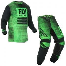 FLY 2019 KINETIC JERSEY AND PANT COMBO GREEN
