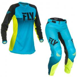 FLY 2019 LITE LADIES JERSEY AND PANT COMBO BLUE