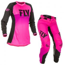 FLY 2019 LITE LADIES JERSEY AND PANT COMBO PINK