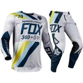 FOX 2018 360 DRAFTR LIGHT GREY JERSEY AND PANT COMBO