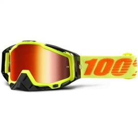 100% RACECRAFT ATTACK YELLOW GOGGLE