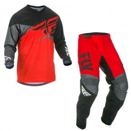 FLY 2019 F-16 YOUTH JERSEY AND PANT COMBO BLK RED GREY
