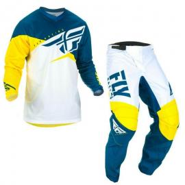 FLY 2019 F-16 YOUTH JERSEY AND PANT COMBO NVY YELLOW