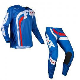 FOX 180 COTA YOUTH JERSEY AND PANT COMBO BLUE