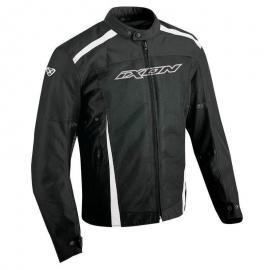 L Large Mens DriRider Air Ride 4 Jacket Summer Vented Mesh Black White Grey