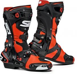 SIDI REX BOOT RED FLURO BLACK