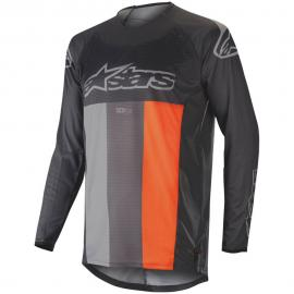 ALPINESTARS 2019 TECHSTAR VENOM JERSEY BLACK GREY FLURO ORANGE