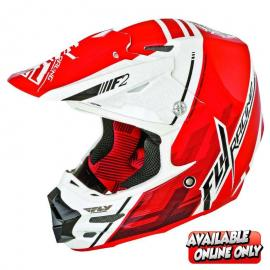FLY F-2 HELMET WHITE RED
