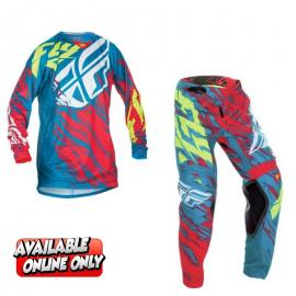 FLY EVOLUTION JERSEY AND PANT COMBO TEAL RED
