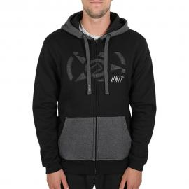 UNIT CASUAL MENS TOP FLEECE HOODY - TORCH BLACK