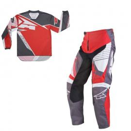 AXO SR MX PANT AND JERSEY SET RED