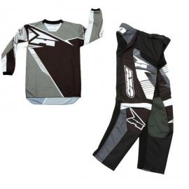 AXO SR MX PANT AND JERSEY SET GREY