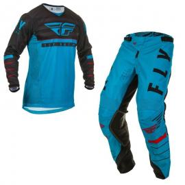 FLY 2020 KINETIC K120 YOUTH JERSEY AND PANT COMBOBLUE BLACK RED