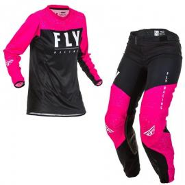 FLY 2020 WOMENS LITE JERSEY AND PANT COMBO PINK BLACK