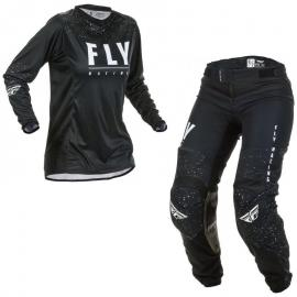 FLY 2020 WOMENS LITE JERSEY AND PANT COMBO BLACK WHITE