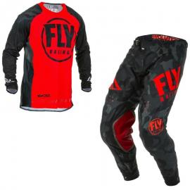 FLY 2020 EVOLUTION JERSEY AND PANT COMBO RED