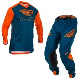 FLY 2020 LITE JERSEY AND PANT COMBO ORANGE NAVY