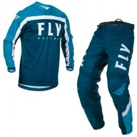 FLY 2020 F-16 YOUTH JERSEY AND PANT COMBO BLUE