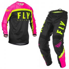 FLY 2020 F-16 YOUTH JERSEY AND PANT COMBO PINK HI VIS