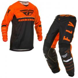 FLY 2020 KINETIC K120 YOUTH JERSEY AND PANT COMBO ORANGE BLACK