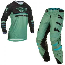 FLY 2020 KINETIC K120 YOUTH JERSEY AND PANT COMBO SAGE GREEN