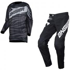 ANSWER 2020 JERSEY AND PANT COMBO BLACK GREY