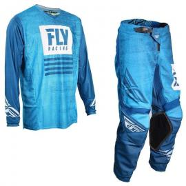 FLY 19.5 NOIZ MESH JERSEY AND PANT COMBO BLUE NAVY